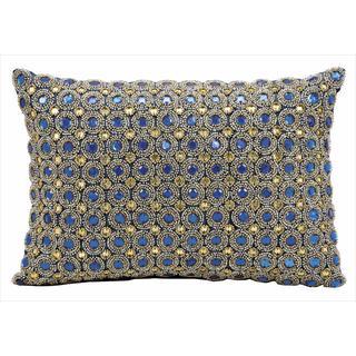 "Nourison Kathy Ireland Blue Sapphire Pillow (10"" x 14"")"