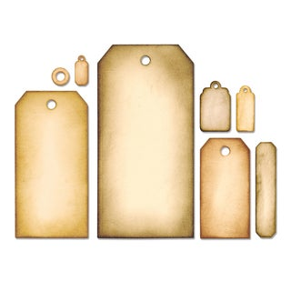 Sizzix Framelits Dies By Tim Holtz 8/Pkg-Tag Collection