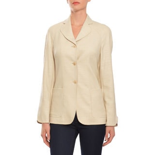 Escada Women's Three-button Beige Jacket Blazer