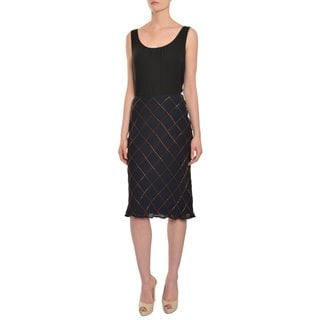 Escada Women's Square Beaded Evening Skirt