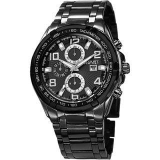 August Steiner Men's Swiss Quartz Multifunction Tachymeter Bracelet Watch