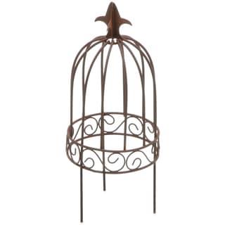 Timeless Miniatures-Wire Garden Birdcage W/Pick