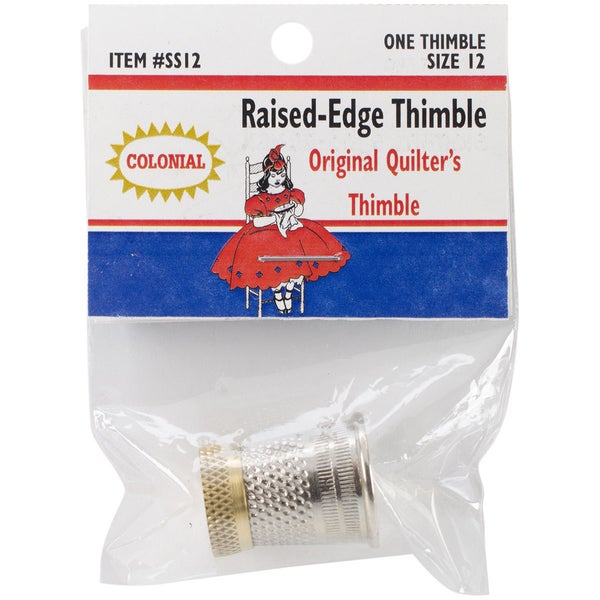 Raised-Edge Thimble-Size 12