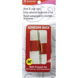 """Hook & Loop Adhesive Tape .75""""X24""""-White"""