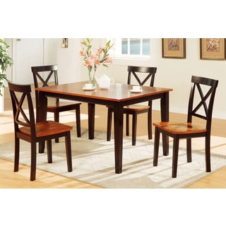 Ogulin Dark Oak and Cherry Finish 5-piece Dining Set