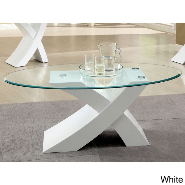 Contemporary Coffee Table Bases: Furniture Of America Cass Modern X-Base Coffee Table