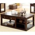 Furniture of America Desiree Brown Cherry Coffee Table