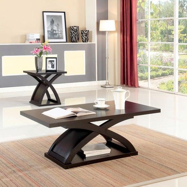 Furniture of america barkley modern espresso x base coffee for Furniture of america danbury modern