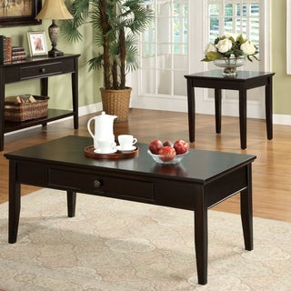 Furniture of America Karlyn Dark Cherry 3-Piece Coffee and End Table Set