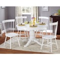 Simple Living Kale 5-piece White Dining Set
