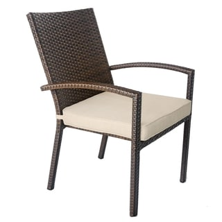 Espresso Dining Chairs With Olefin Tan Cushion (Set of 4)