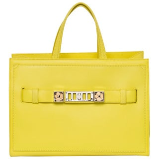 Proenza Schouler 'PS11' Bright Yellow Leather Zip Tote