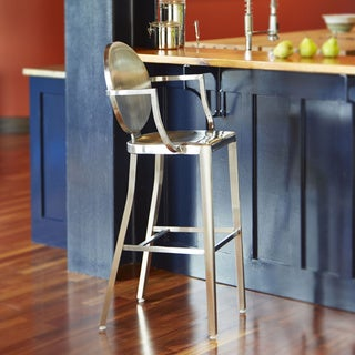 Dalton Home Indoor Chair Collection Brushed Stainless Steel Counter Stool