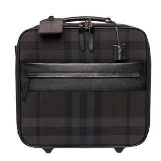 Burberry Black and Grey Beat Check Carry-on Trolley