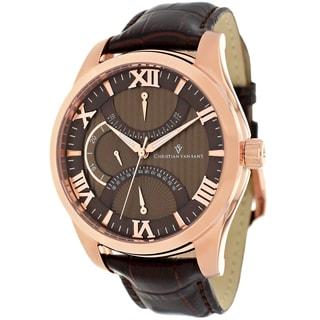 Christian Van Sant Men's Oak Rose Goldtone Watch