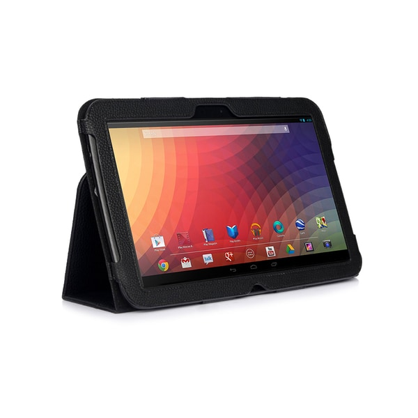 Black Double-Fold Folio Case for Nexus 10