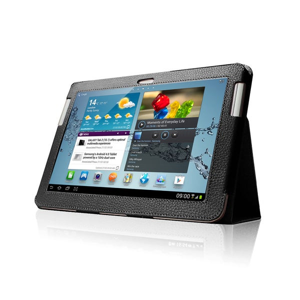 Black Double-Fold Folio Case for Samsung Galaxy Tab 2 10.1 in. Tablet