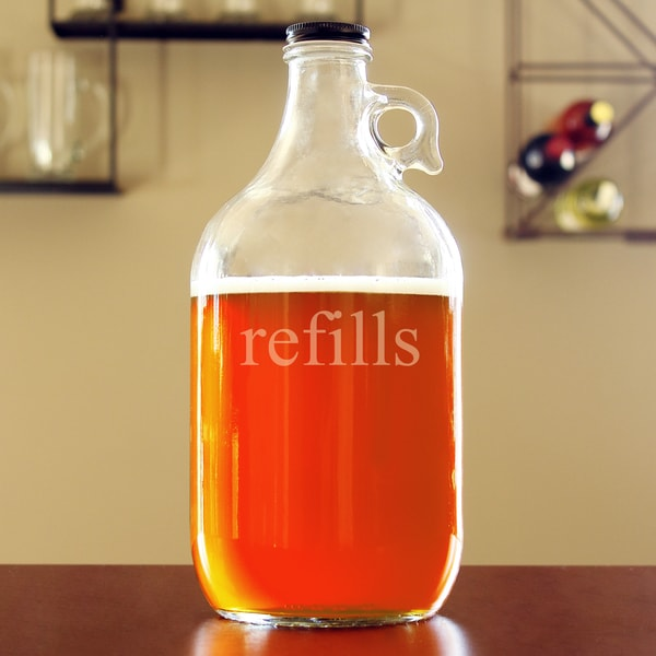 'Refills' Glass Growler