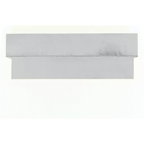 Silver Foil Lined White #10 Envelopes