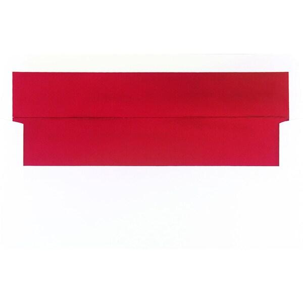 Red Foil Lined White #10 Envelopes