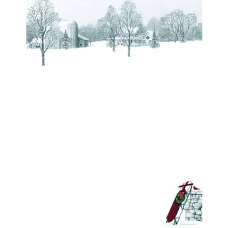 Winter Scene with Sled Holiday Designer Paper