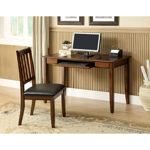 Halle Tobacco Oak Accent Desk with Chair