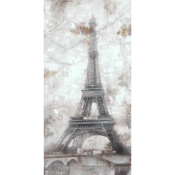 Grey Eiffel Cotton Canvas