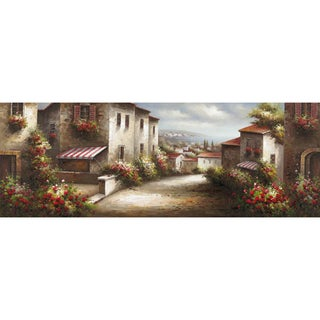 Yosemite Home Decor 'European Village' Cotton Canvas