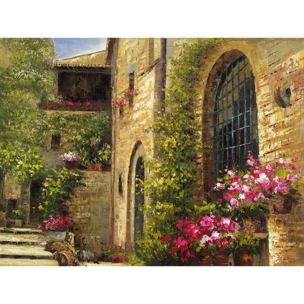 Floral Villa Cotton Canvas