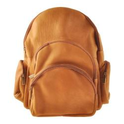 David King Leather 322 Expandable Backpack Tan