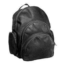 David King Leather 322 Expandable Backpack Black