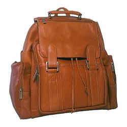 David King Leather 329 Top Handle Backpack Tan