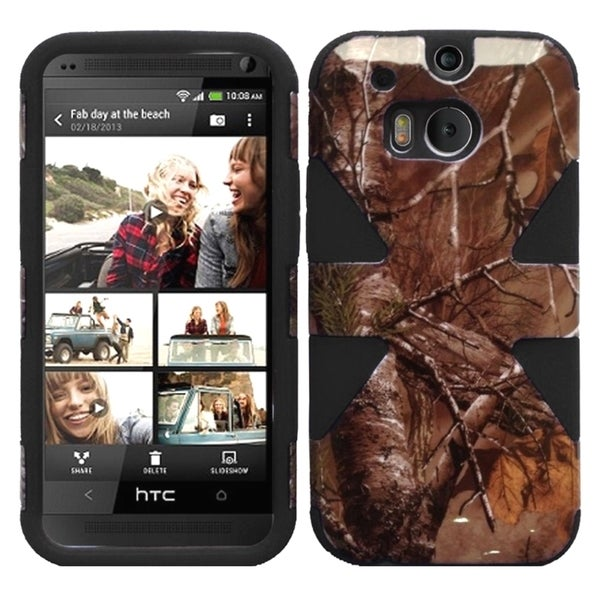INSTEN Shock Proof PC Soft Silicone Dual Hybrid Phone Case Cover for HTC One 2 M8