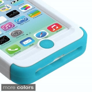 INSTEN Shock Proof PC Soft Silicone Dual Hybrid Phone Case Cover for Apple iPhone 5C