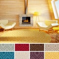 Artistic Weavers Hand-woven Abi Geometric Tone-on-Tone Wool Area Rug (7'9 Round)