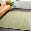 Artistic Weavers Hand-woven Amy Tone-on-Tone Lattice Wool Area Rug (6' Round)
