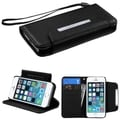 INSTEN Stand Lanyard Wallet Magnetic Flap Leather Phone Case Cover for Apple iPhone 5/ 5S