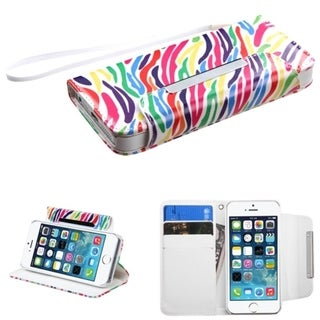 INSTEN Stand Wallet Magnetic Flap Leather Phone Case Cover With Lanyard for Apple iPhone 5/ 5S