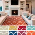 Hand-Woven Madison Moroccan Trellis Cotton Rug (3' x 5')
