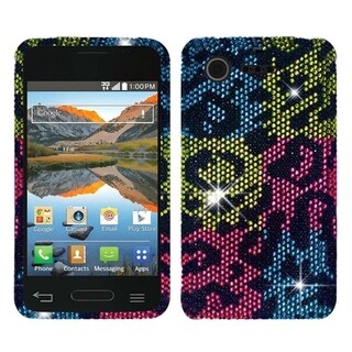 BasAcc Pattern Diamond Bling Hard Case for LG Optimus Zone 2 VS415PP L34C Fuel
