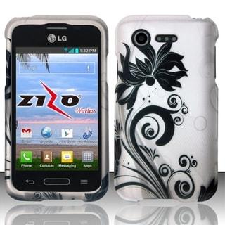 INSTEN Dust Proof Rubberized Hard Plastic Phone Case Cover for LG Optimus Zone 2 VS415PP L34C Fuel