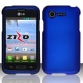 INSTEN Colorful Dust Proof Rubberized Hard Plastic Phone Case Cover for LG Optimus Zone 2/ Fuel