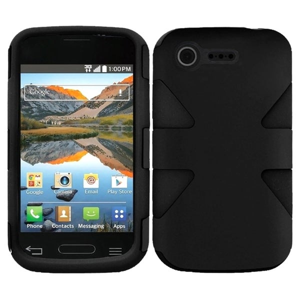 INSTEN Shock Proof PC Soft Silicone Dual Hybrid Phone Case Cover for LG Optimus Zone 2/ Fuel 13561392