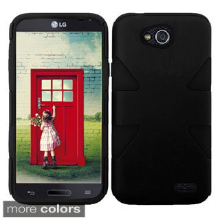 INSTEN Shock Proof PC Soft Silicone Dual Hybrid Phone Case Cover for LG Optimus L90 D415