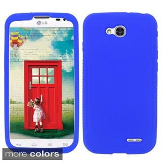 BasAcc Colorful Soft Silicone Rubber Skin Case Cover for LG Optimus L90 D415