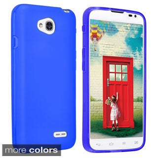 INSTEN Dust Proof TPU Rubber Gel Phone Case Cover for LG Optimus L70/ Exceed II/ Dual D325