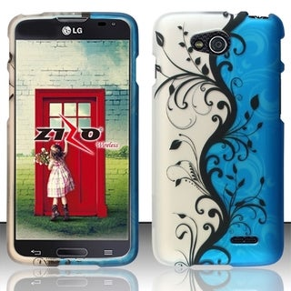 INSTEN Pattern Dust Proof Rubberized Hard Plastic Phone Case Cover for LG Optimus L90 D415