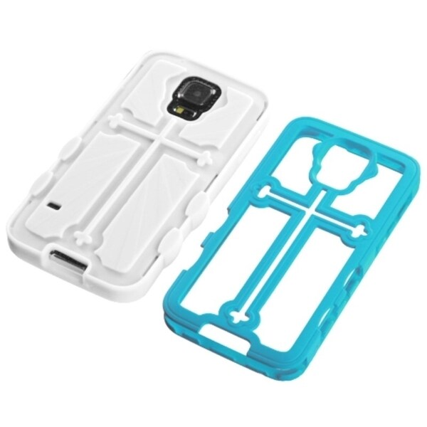 INSTEN Shock Proof PC Soft Silicone Dual Hybrid Phone Case Cover for Samsung Galaxy S5 13561990