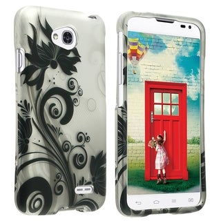 INSTEN Dust Proof Rubberized Hard Plastic Phone Case Cover for LG Optimus L70/ Exceed II/ Dual D325