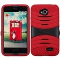 BasAcc PC Silicone Dual Hybrid Case for LG Optimus L70/ Exceed II/ Dual D325